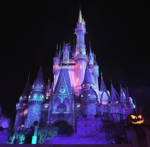 Cinderella Castle at Halloween